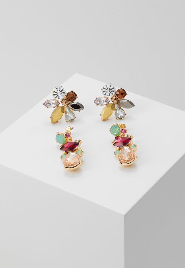 PCFLAME EARRINGS 2 PACK - Náušnice - gold coloured/multi