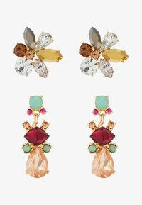 Pieces - PCFLAME EARRINGS 2 PACK - Øredobber - gold coloured/multi - 1