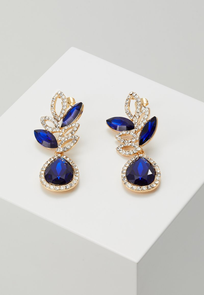 Pieces - PCBLUE EARRINGS - Earrings - gold coloured/blue/clear