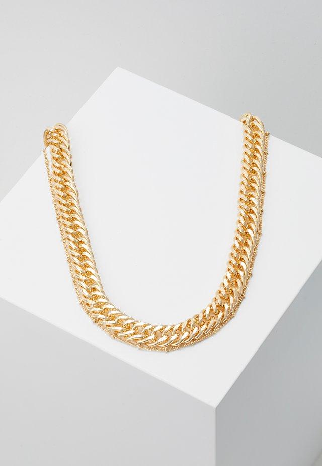PCCHAIN COMBI NECKLACE  - Collar - gold-coloured