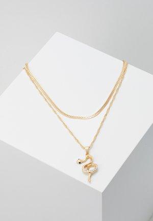 PCSNAKE COMBI NECKLACE - Halsband - gold-oloured