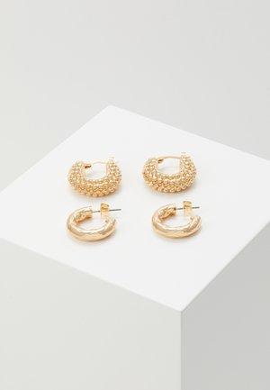 PCBALL HOOP EARRINGS 2 PACK - Náušnice - gold-coloured