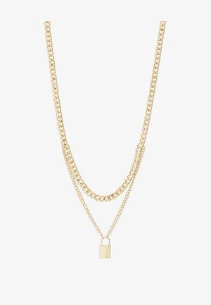 PCPADLOCK NECKLACE - Smykke - gold-coloured