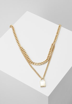 PCPADLOCK NECKLACE - Smykke - gold-coloured