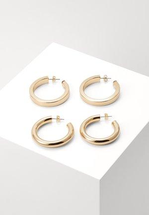 PCNANA HOOP EARRINGS 2 PACK - Ohrringe - gold-coloured