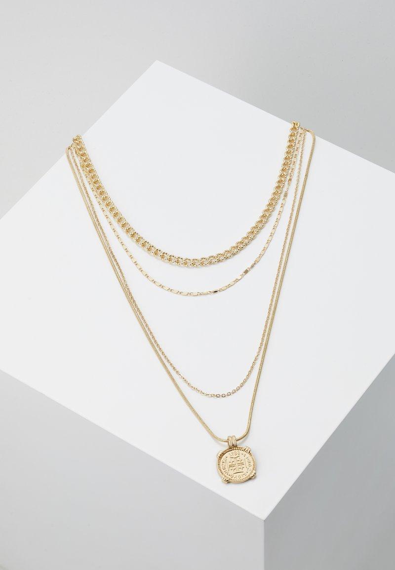 Pieces - PCMEDAL COMBI NECKLACE  - Necklace - gold-coloured