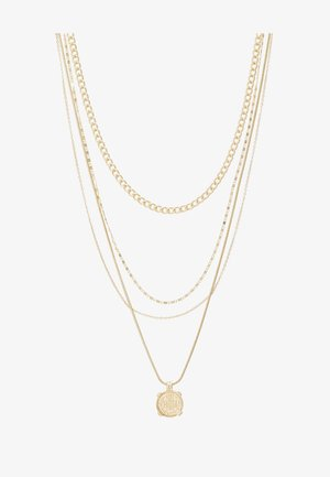 PCMEDAL COMBI NECKLACE  - Collier - gold-coloured