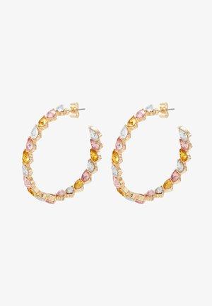 PCONE HOOP EARRINGS - Earrings - gold coloured/multi-blush