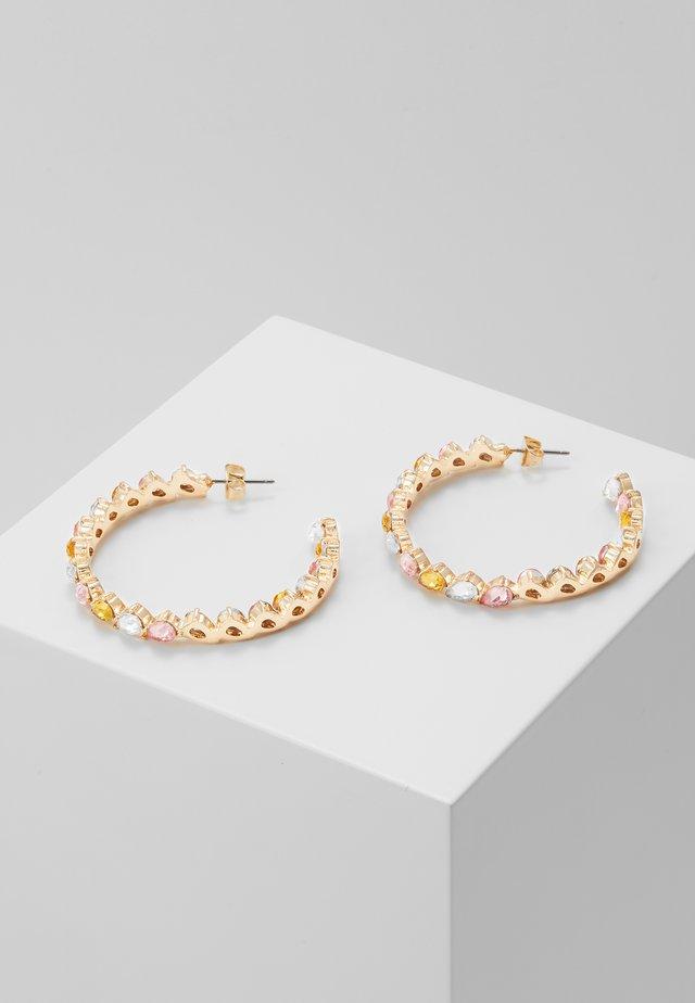 PCONE HOOP EARRINGS - Oorbellen - gold coloured/multi-blush