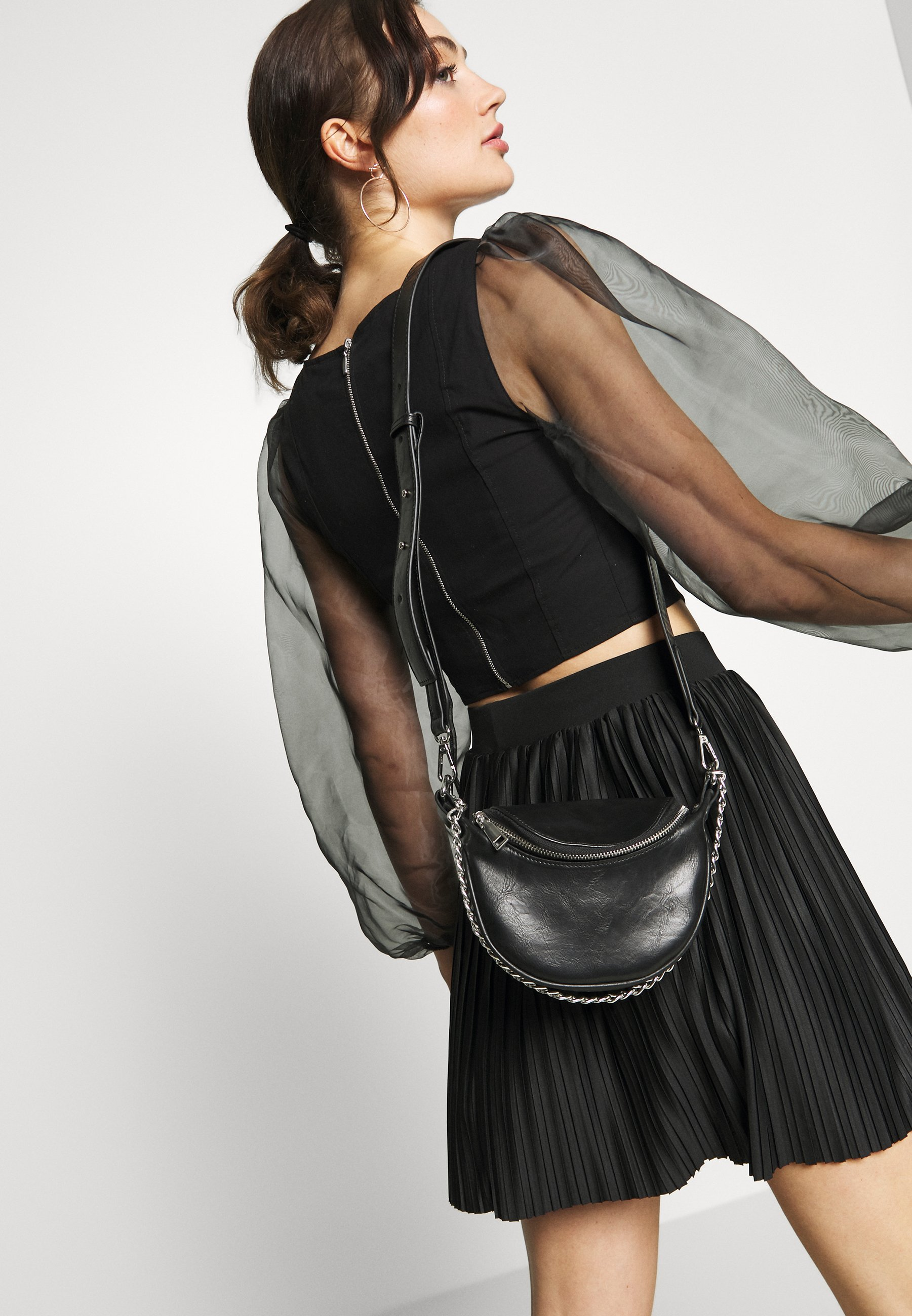 Pieces Pcrev Cross Body - Sac À Main Black/silver