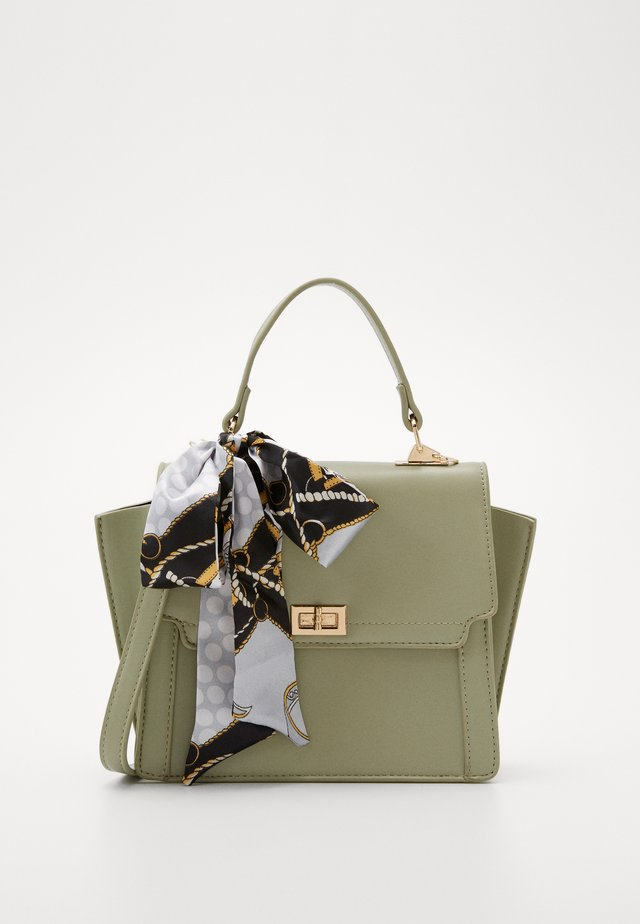 PCOLIVE CROSS BODY  - Sac à main - olive branch/gold-coloured