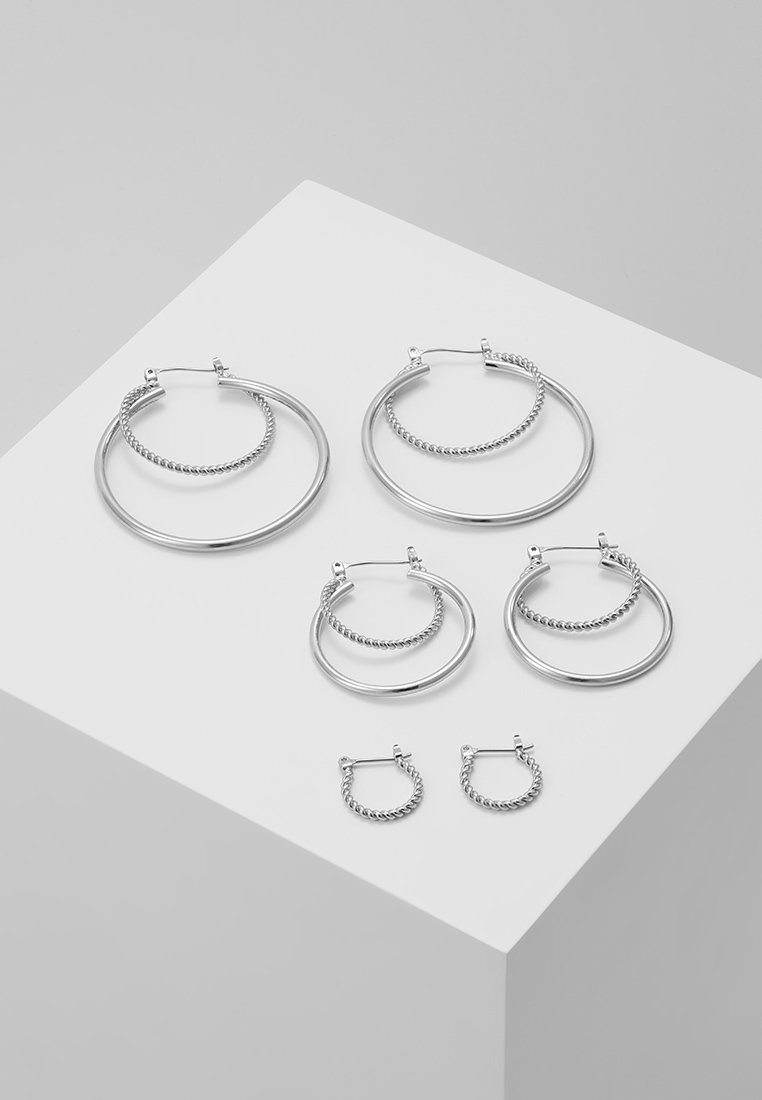 Pieces - PCMARGO CREOL EARRINGS 3 PACK - Orecchini - silver-coloured