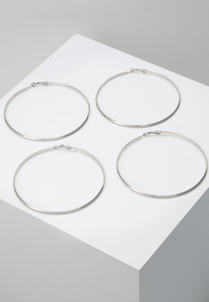 PCNELLIE HOOP EARRINGS 2 PACK - Orecchini - silver-coloured