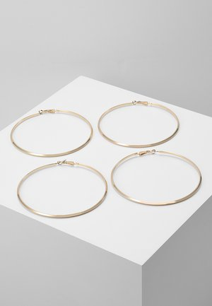 PCNELLIE HOOP EARRINGS 2 PACK - Orecchini - gold-coloured