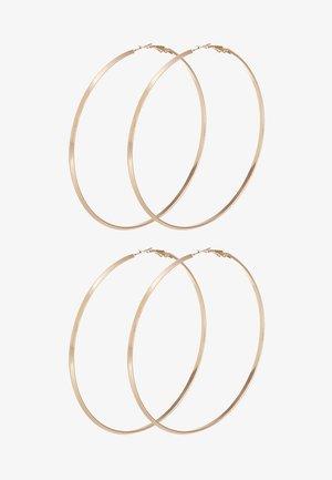 PCNELLIE HOOP EARRINGS 2 PACK - Øredobber - gold-coloured