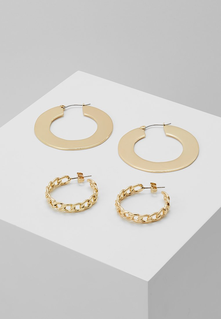 Pieces - PCNAJA HOOP EARRINGS 2 PACK - Ohrringe - gold-coloured