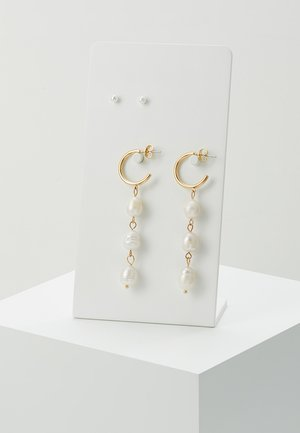 PCDITTE EARRINGS 2 PACK - Orecchini - gold-coloured