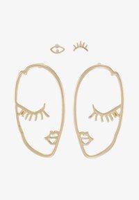 Pieces - PCDANA EARRINGS 2 PACK - Boucles d'oreilles - gold-coloured - 3