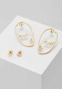Pieces - PCDANA EARRINGS 2 PACK - Boucles d'oreilles - gold-coloured - 0