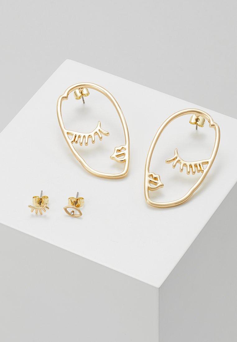 Pieces - PCDANA EARRINGS 2 PACK - Boucles d'oreilles - gold-coloured