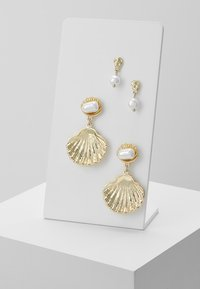 Pieces - PCJANIS EARRINGS 2 PACK - Náušnice - gold-coloured - 0
