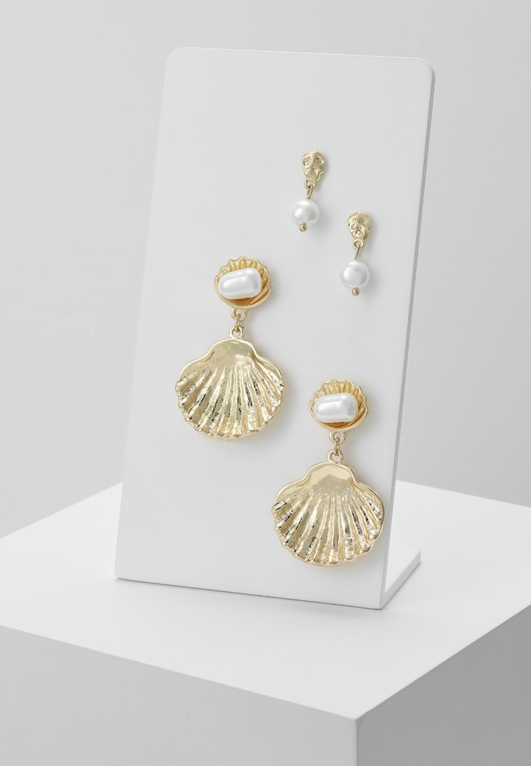 Pieces - PCJANIS EARRINGS 2 PACK - Náušnice - gold-coloured