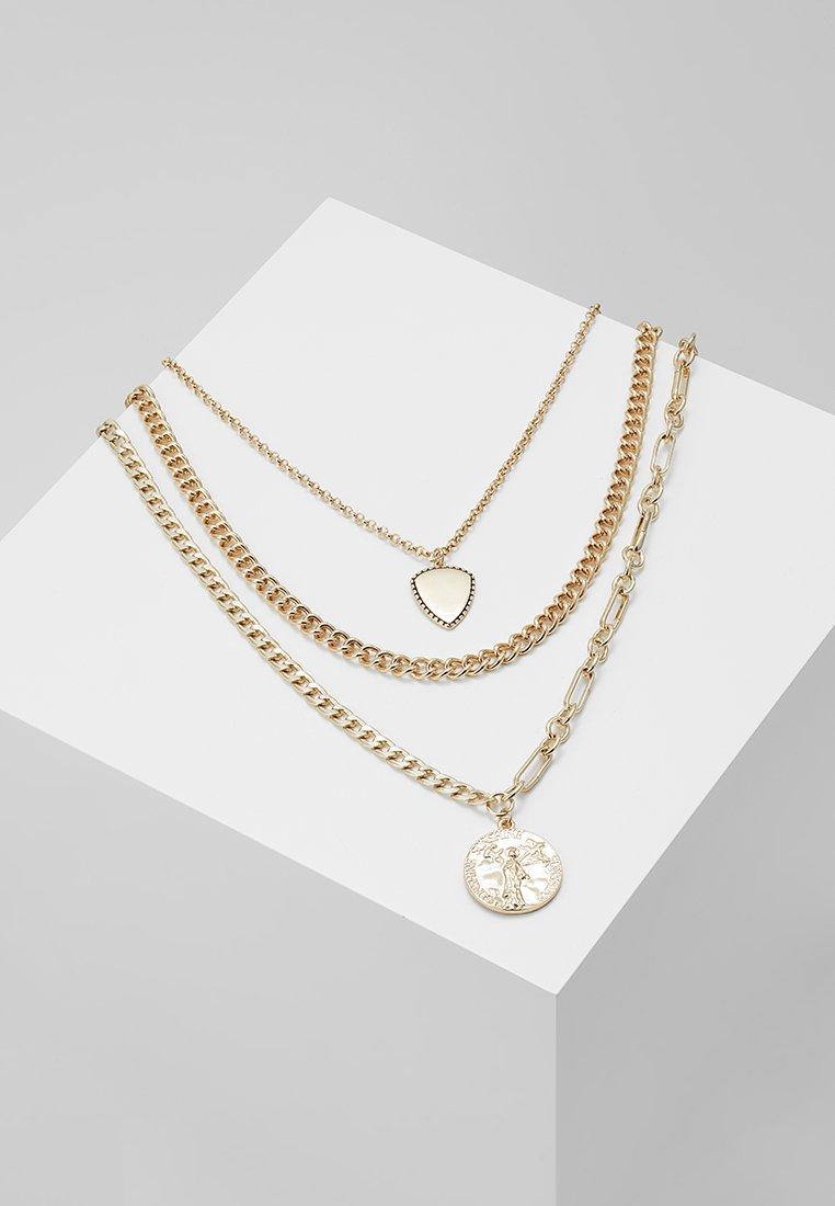 Pieces - PCJULIA COMBI NECKLACE - Necklace - gold-coloured