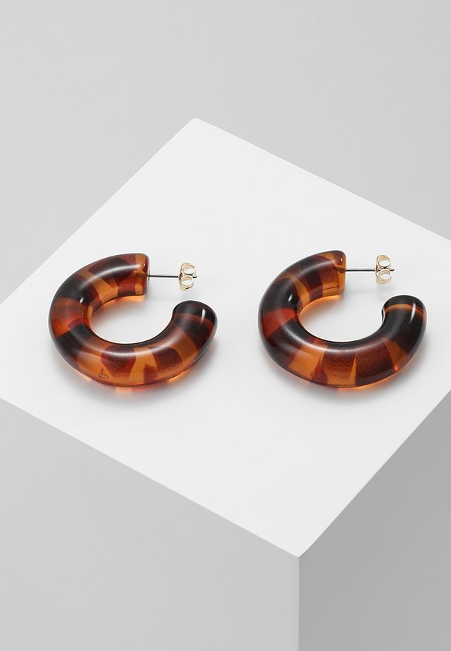 PCJANNY EARRINGS KEY - Earrings - coffee bean
