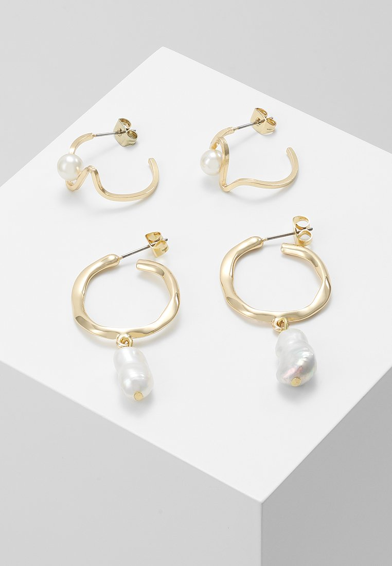 Pieces - PCJENNI EARRING KEY 2 PACK - Ohrringe - gold-coloured