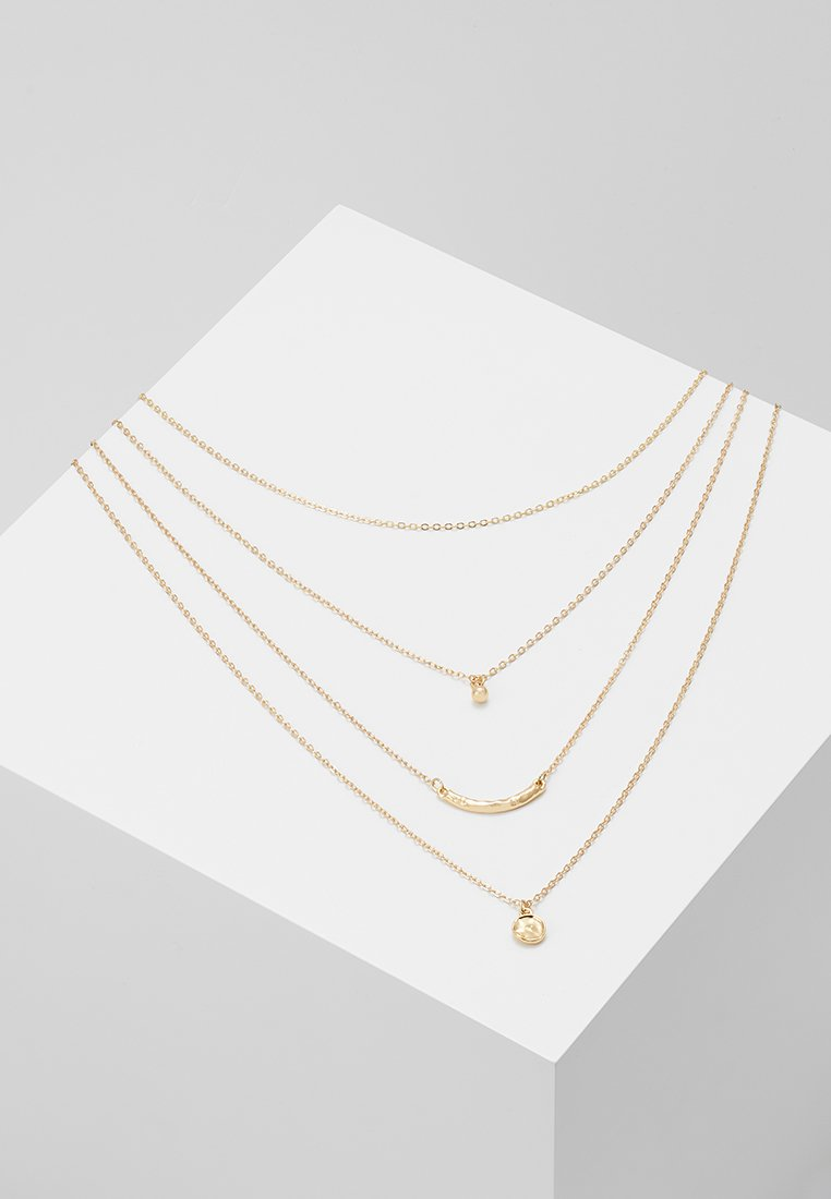 Pieces - PCSELANA COMBI NECKLACE - Necklace - gold-coloured