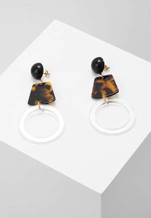 PCSIGNA EARRINGS - Øredobber - coffee bean