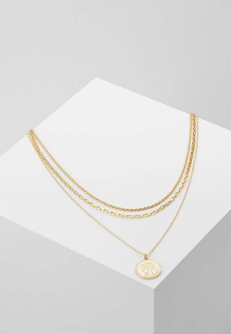 Pieces - PCCARMEN COMBI NECKLACE - Kaulakoru - gold-coloured