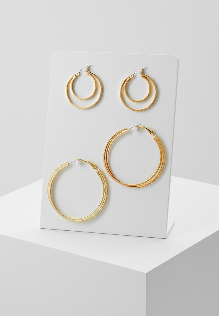 Pieces - PCCINDY HOOP EARRINGS 2 PACK - Øreringe - gold-coloured