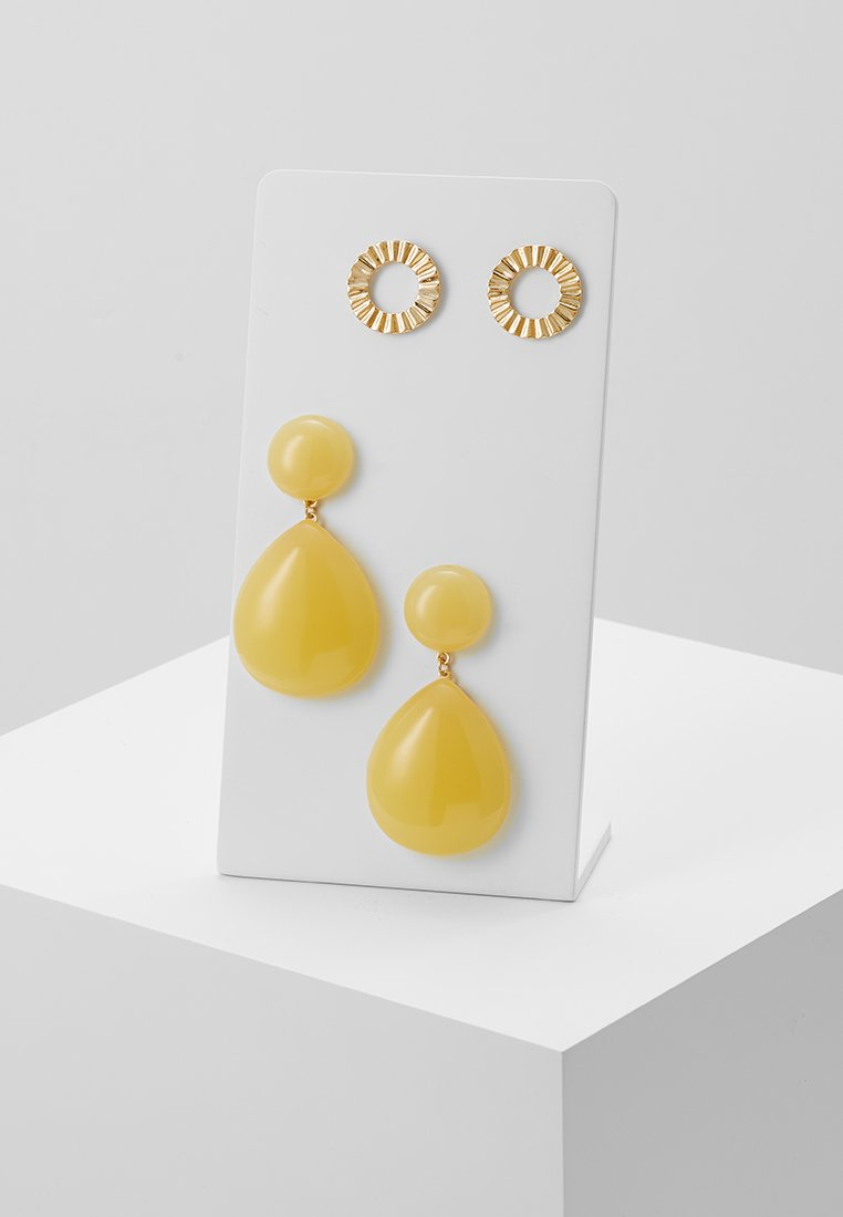 Pieces - PCCHASTITY EARRINGS 2 PACK - Boucles d'oreilles - gold-coloured