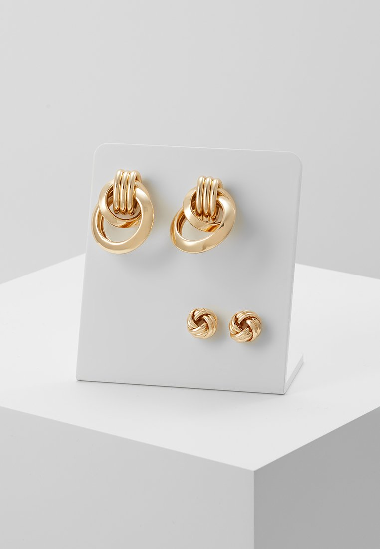 Pieces - PCCELESTE EARRINGS 2 PACK - Ohrringe - gold-coloured