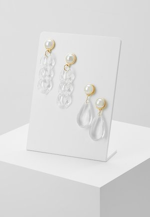 PCCASSIDY EARRINGS 2 PACK - Earrings - gold-coloured