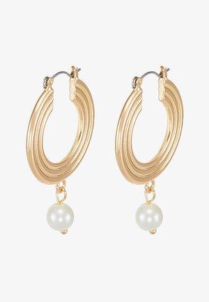 PCCARA HOOP EARRINGS - Korvakorut - gold-coloured