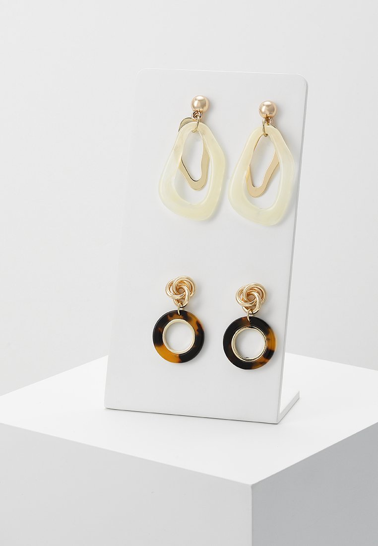 Pieces - PCAGATA EARRINGS 2 PACK KEY - Earrings - gold-coloured