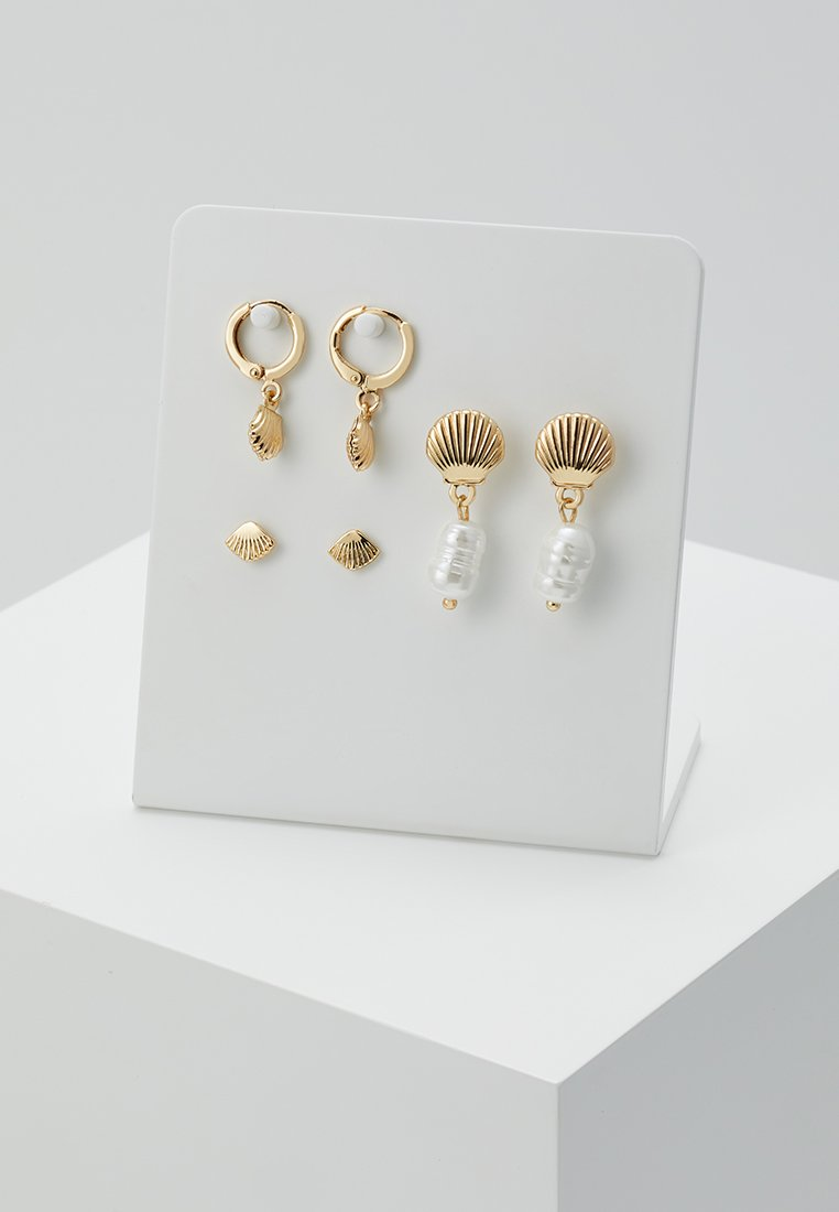 Pieces - PCMAE EARRINGS KEY 3 PACK - Ohrringe - gold-coloured