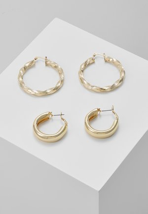 PCMALAZ HOOP 2 PACK EARRINGS - Øredobber - gold-coloured