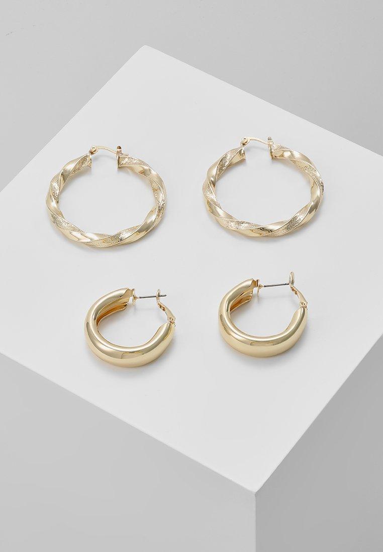 Pieces - PCMALAZ HOOP 2 PACK EARRINGS - Earrings - gold-coloured