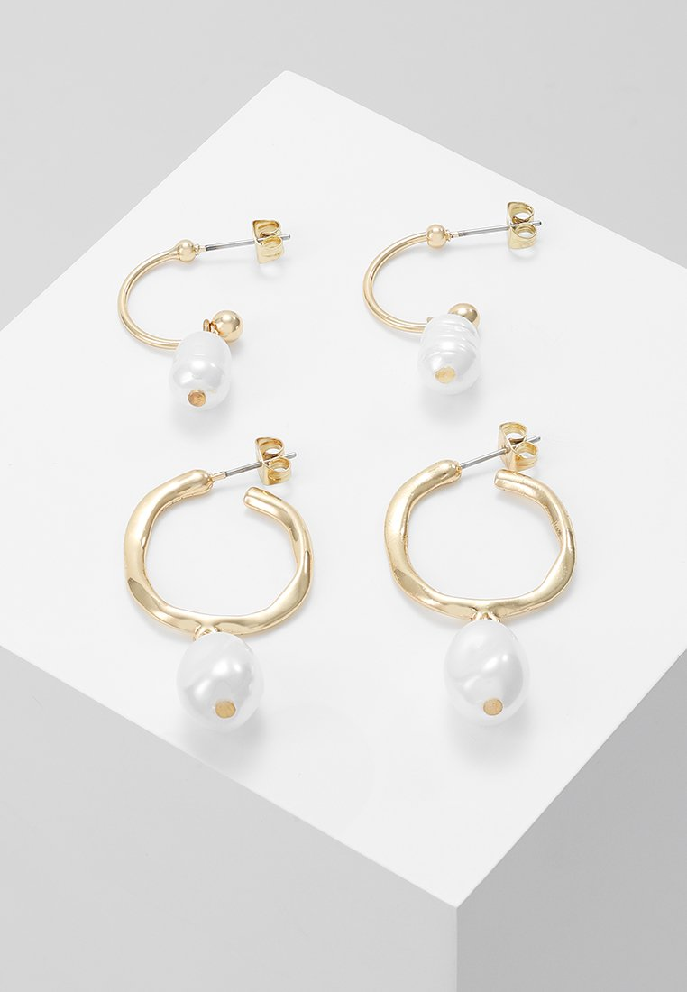 Pieces - PCMIRADIE HOOP EARRINGS 2 PACK - Earrings - gold-coloured
