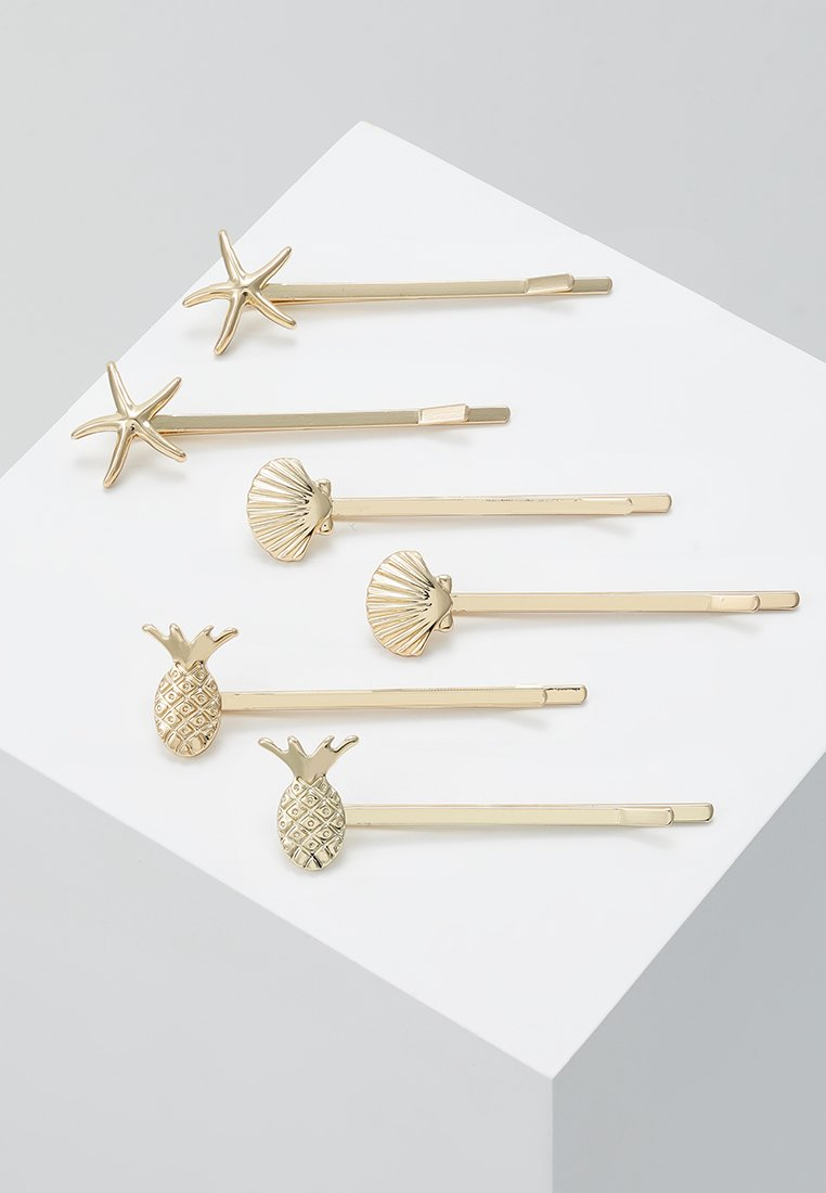 Pieces - PCBLENDA HAIRCLIP BEACH 6 PACK - Hair styling accessory - gold-coloured
