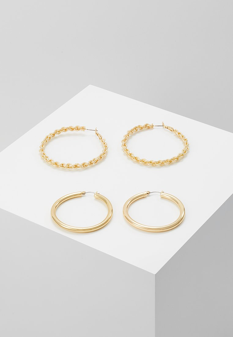 Pieces - PCCARINA HOOP EARRINGS 2 PACK - Øreringe - gold-coloured