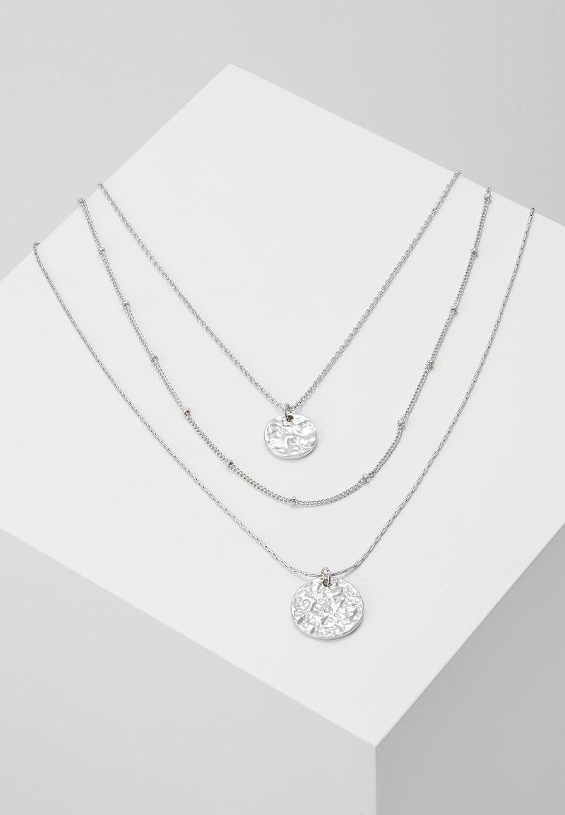 Pieces - PCEIDA COMBI NECKLACE KEY - Necklace - silver-coloured