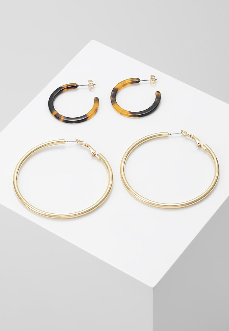 Pieces - PCADA HOOP EARRINGS 2 PACK KEY - Náušnice - gold-coloured