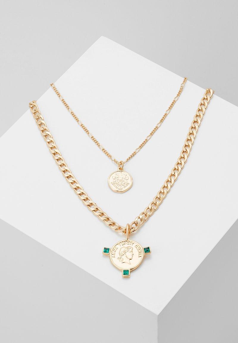 Pieces - Necklace - gold-colour