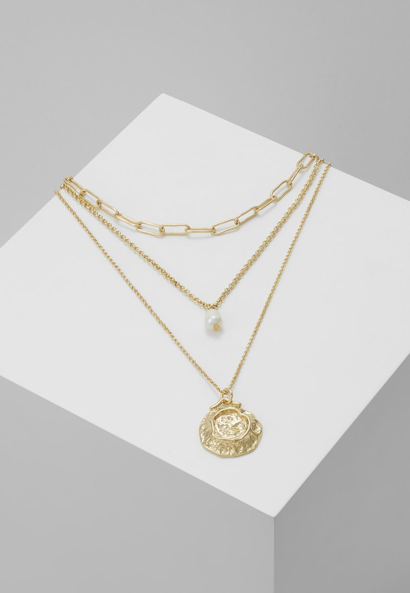 Pieces - PCGANIKA COMBI NECKLACE - Halskette - gold-coloured