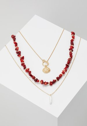 Collana - gold-coloured/red
