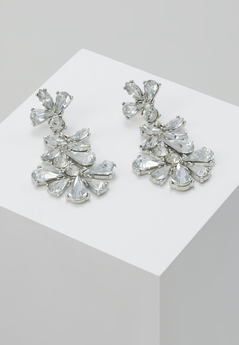 Pieces - PCJANE EARRINGS KEY - Earrings - silver-coloured/clear